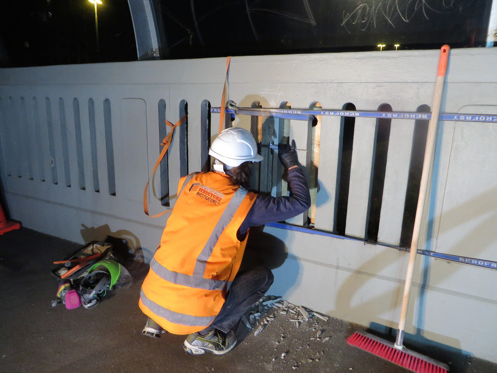 Night Works at a Busy Auckland Bridge