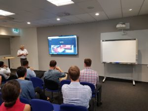 Michael from CSI presenting to a group of NZ Engineers